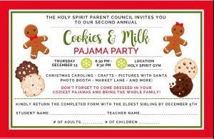 Cookies & Milk PJ Party